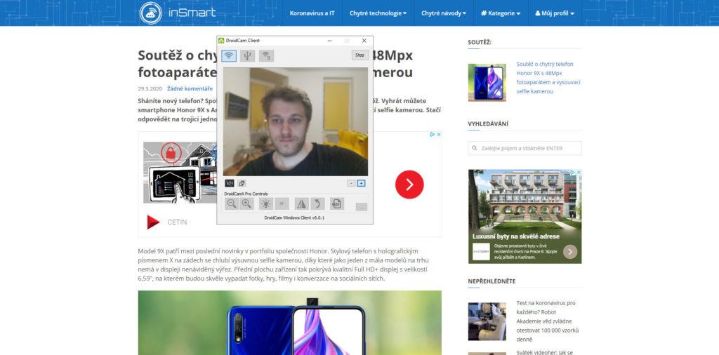 Obrázek: Webkamery se špatně shánějí: Jak si zdarma vyrobit webkameru z mobilu?
