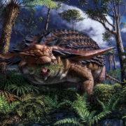 Obrázek: Co jedli dinosauři? Vzácná fosilie ukázala obsah žaludku 110 milionů let starého nodosaura