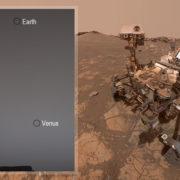 Obrázek: Jak vypadá Země z Marsu? Vozítko Curiosity náhodou vyfotilo Zemi a Venuši