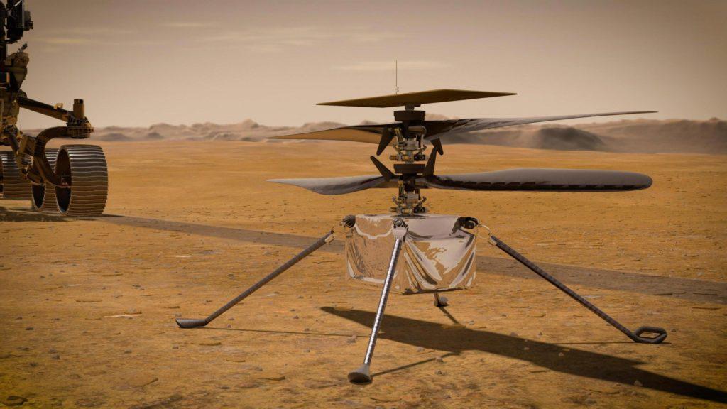 Obrázek: Let helikoptérou na Marsu bude jako první let letadlem na Zemi