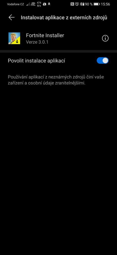Obrázek: Jak nainstalovat Fortnite na Androidu když už není v obchodu Google Play?