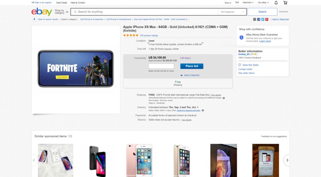 Obrázek: iPhony s předinstalovanou hrou Fortnite se prodávají i za 100 000 Kč: Hlupáci si je doopravdy kupují