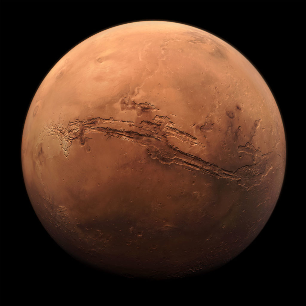Obrázek: Čína zveřejnila unikátní video z orbity Marsu: Mise vozítka Tianwen-1 pokračuje