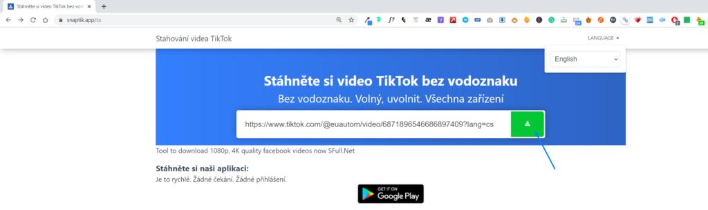 Obrázek: Jak stáhnout video z TikToku do telefonu i do PC?