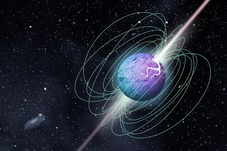 Obrázek: Rádiové signály zvesmíru nejsou žádná magie ani mimozemšťani, ale neutronová hvězda