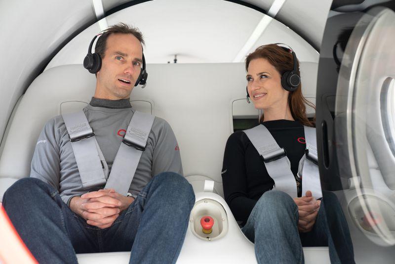Obrázek: Testy Hyperloopu pokračují, Virgin Hyperloop poprvé vyzkoušel technologii sživými cestujícími