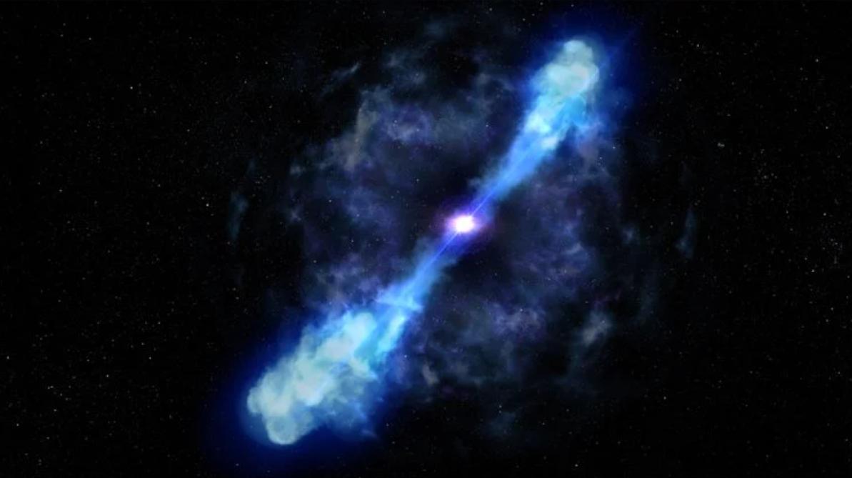 Obrázek: Exploze nejjasnější kilonovy překvapivě neskončila vznikem červí díry. Zrodil se magnetar
