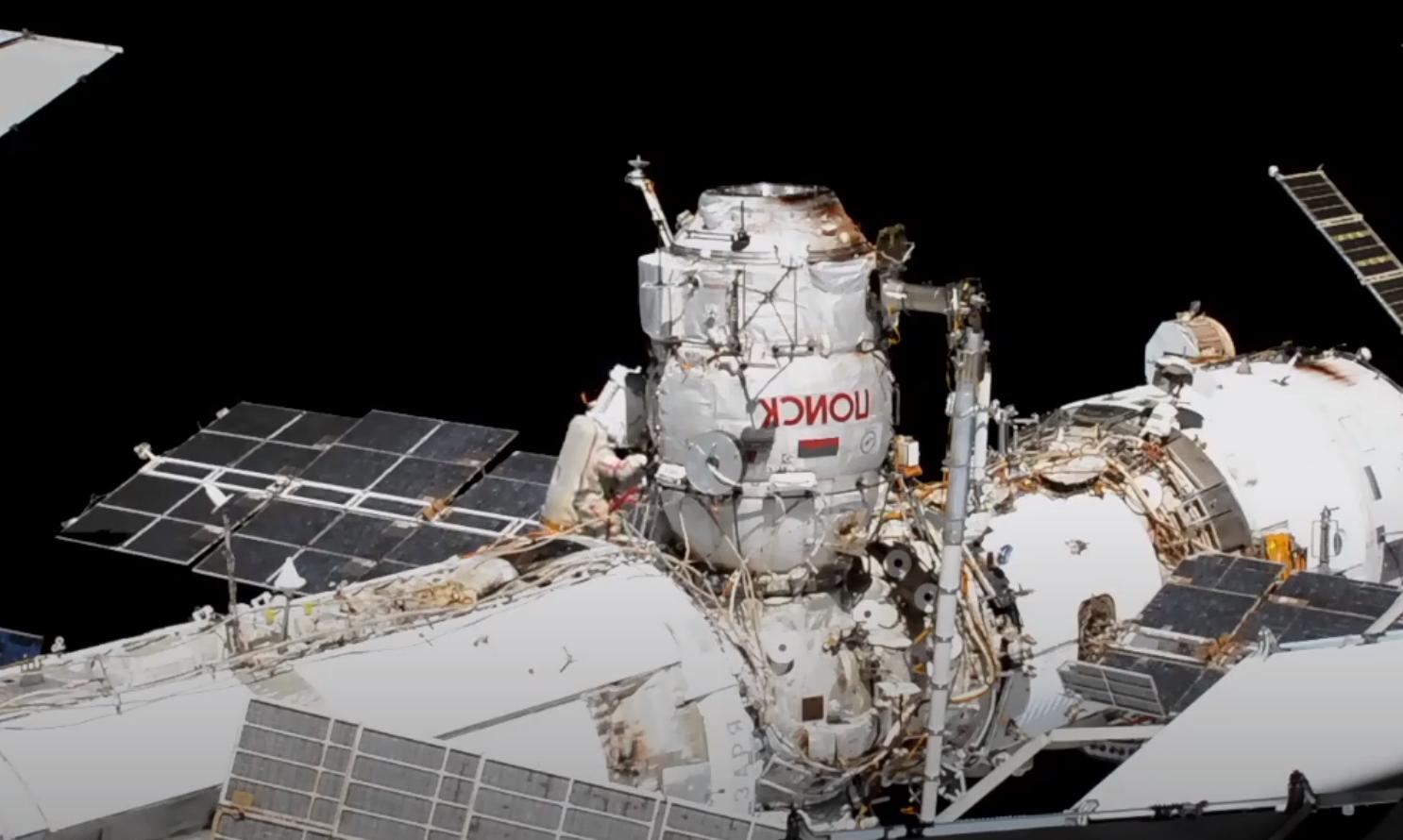 Obrázek: Sledujte živě: Ruští kosmonauti připravují ISS na připojení nového modulu