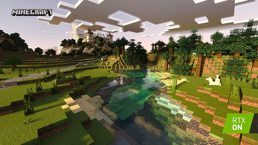 Obrázek: Minecraft má oficiálně ray tracing. Proč? Bůh ví, ale kostičky vypadají famózně