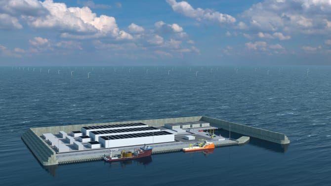 Obrázek: Umělý ostrov na energii: Dánsko si postaví umělou větrnou farmu