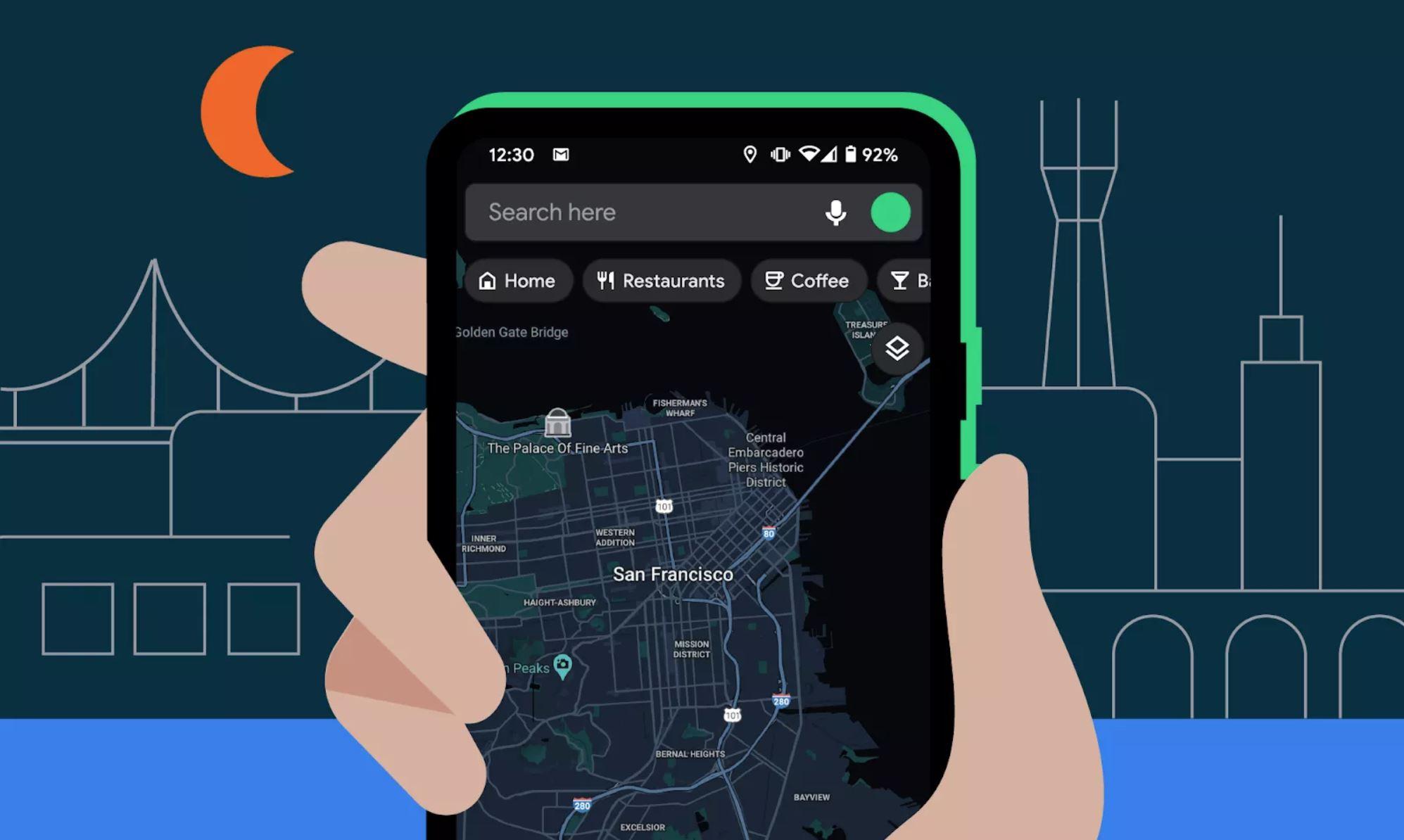 Obrázek: Tmavý režim pro Google Mapy šetří oči i baterii mobilu: Jak ho zapnout?