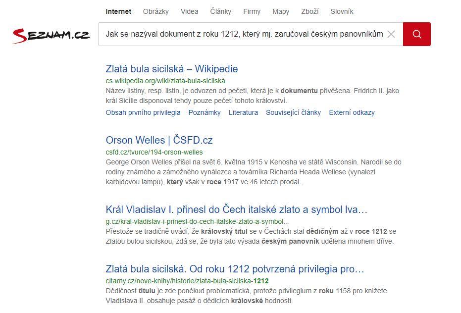 Obrázek: Vyhledávač Seznam.cz výrazně zlepšil kvalitu výsledků: Největší změna za 10 let je znát