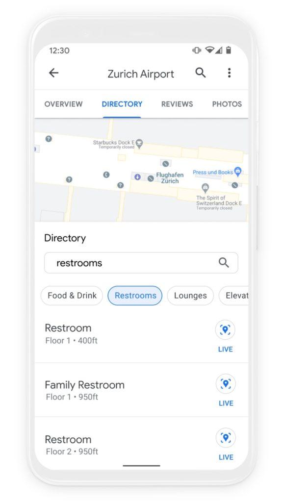Obrázek: Novinky v Google Mapách: Uvnitř budov nezabloudíte a ušetříte na benzínu