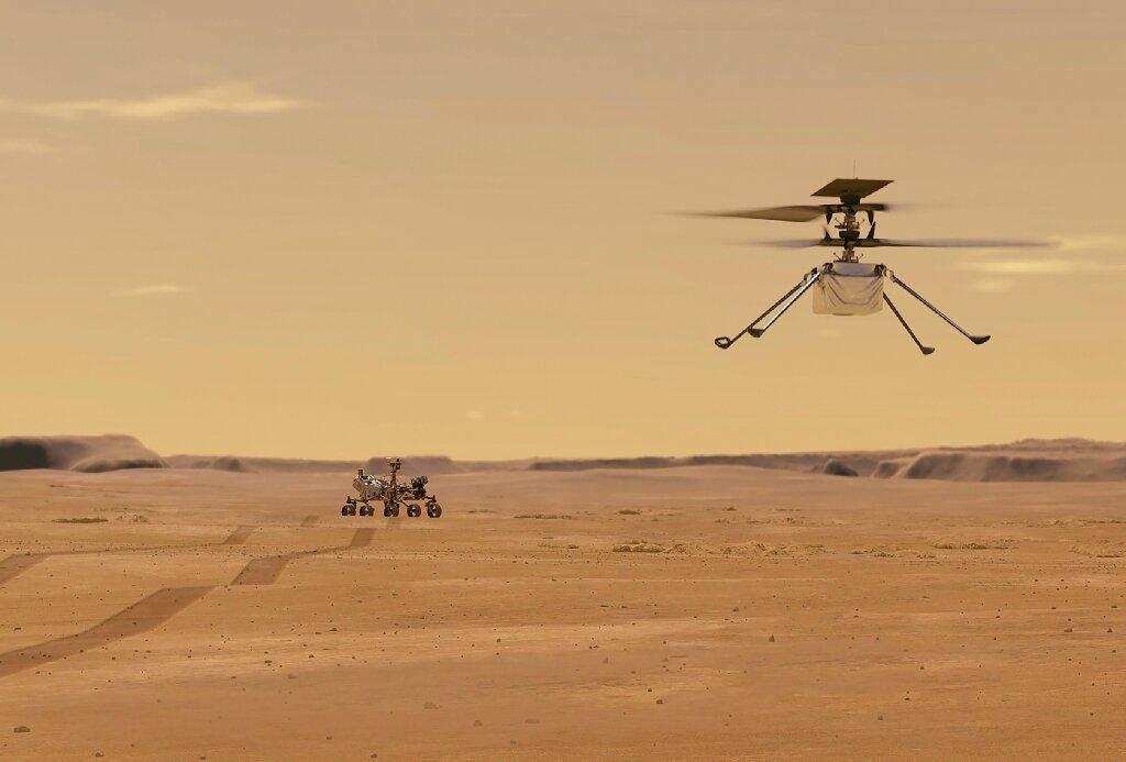 Obrázek: NASA hlásí problémy na Marsu: Vrtule helikoptéry se točí, v pondělí ale nevzlétne
