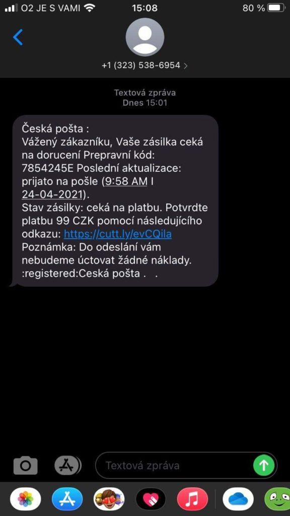 Obrázek: Falešné SMS a e-maily od České pošty: Podvodníci chtějí peníze a čísla karet