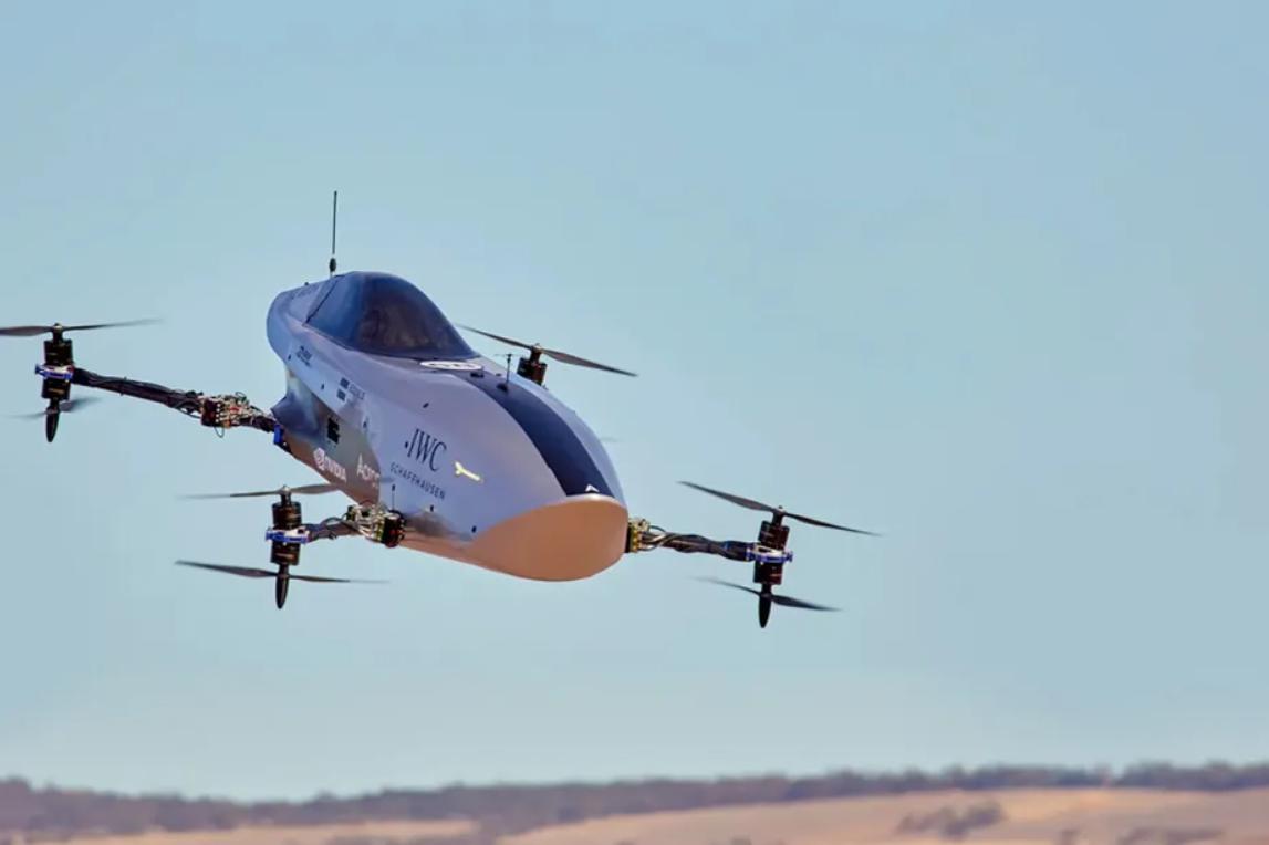 Obrázek: Závody jako ze Star Wars: Drony s lidským pilotem uvnitř v závodní sérii EXA