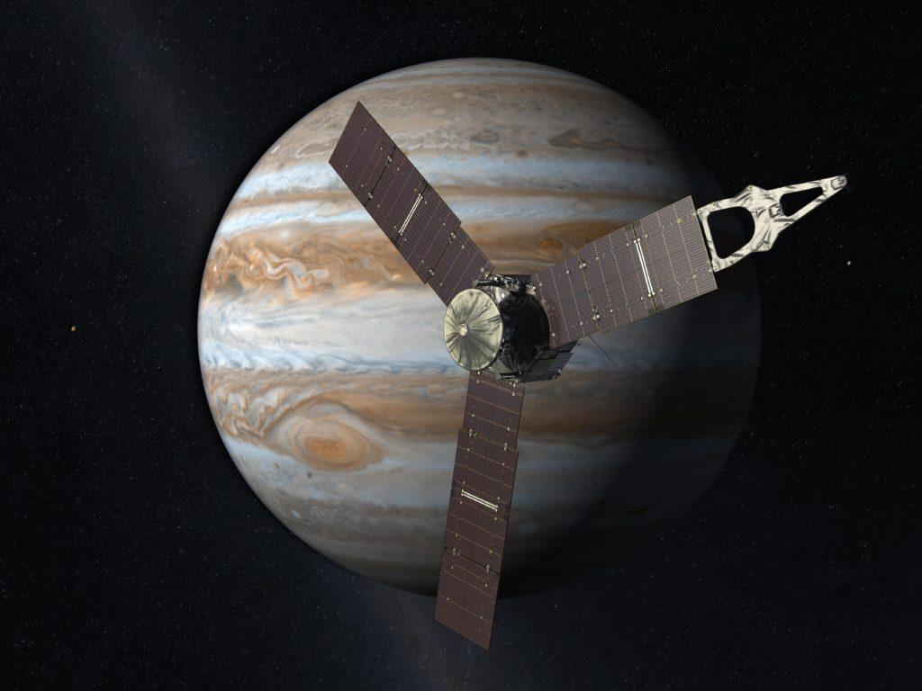 Obrázek: Vodní pára na Ganymede? Stará data pomáhají knovým objevům