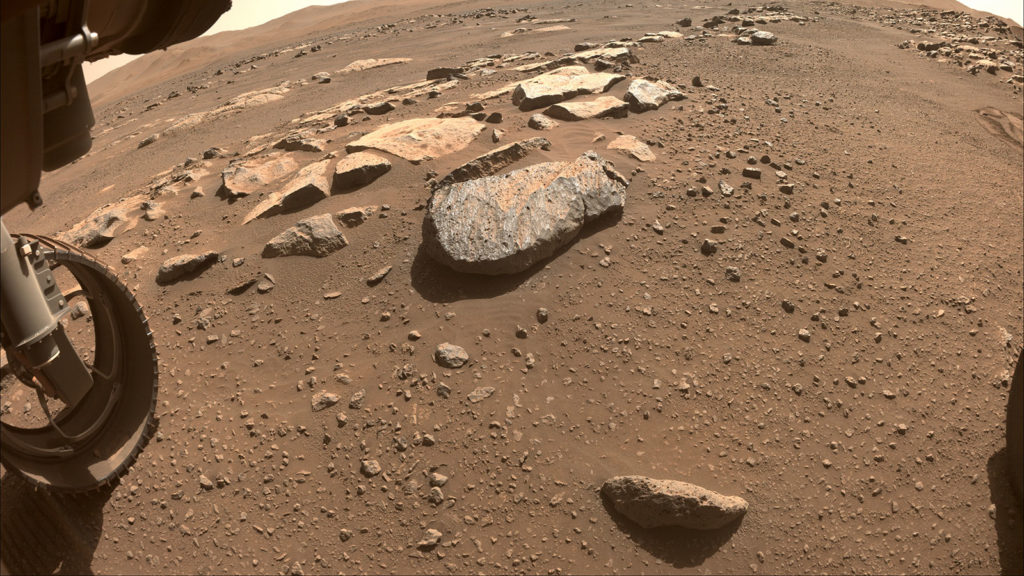Obrázek: Perseverance se nevzdává, opět se pokusí získat vzorek horniny