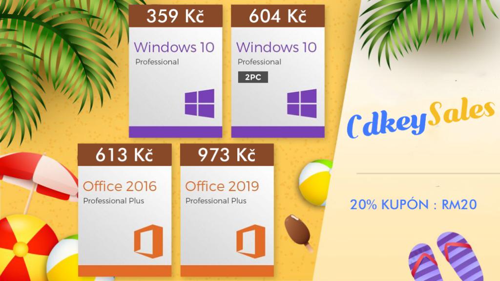 Obrázek: Stavíte počítač? Získejte Windows 10 Pro za 359 Kč a Office za pár korun